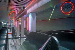 Neons for Pershing Square, Antonakos, photo courtesy of the LA Metro Art