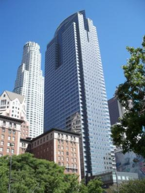 Contemporary architecture in downtown Los Angles, photo by Annie Laskey/LA Conservancy