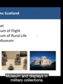 Image 1 – Screenshot from 'National Museums Scotland' presentation by Anna Starkey, depicting the National Museum Scotland portfolio.