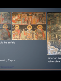 Screenshot taken from Sibylla Tringham's presentation Challenges of Conserving Wall Paintings: A 30-Year Perspective.
