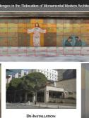 Shows the de-installation mapping of the Methodist Hospital Mural, designed by the artist Bruce Hayes. Image taken by Saranya Dharshini (Fig 1)