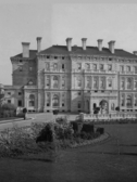 Photo of The Breakers historic house in 1895, screenshot from Patricia Miller's talk 'Geothermal Technology for Sustainable Climate Control in an Historic House Museum'