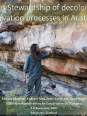 Screenshot from Melissa Marshall's Indigenous Stewardship of Decolonised Rock Art   Conservation Processes in Australia