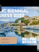 Screenshot of Julian Bickersteth announcing the 2022 IIC Congress location, Wellington NZ. Image credit: Samantha Springer.