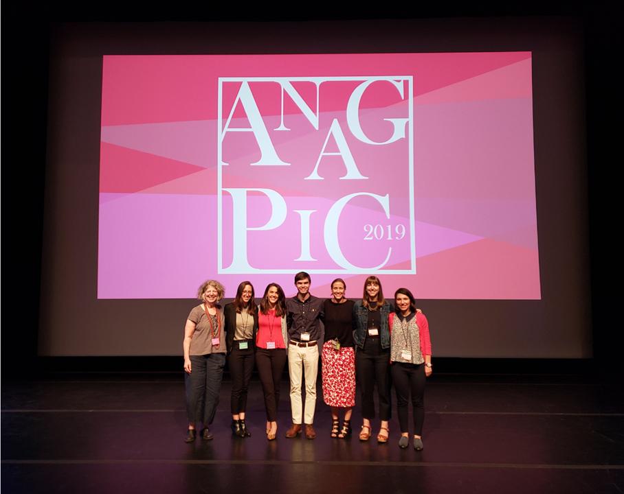 The UCLA/Getty class of 2020 with UCLA/Getty professor Ellen Pearlstein (far left). Image courtesy of Jennifer McGough.