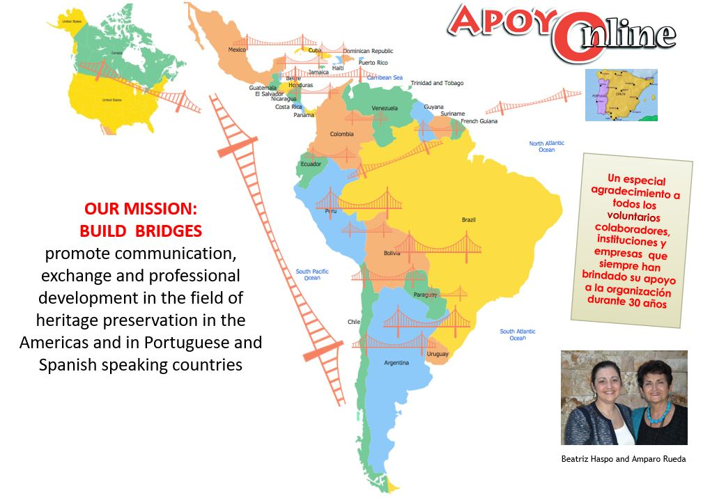 APOYOnline Mission: Build Bridges. Image courtesy of APOYOnline.