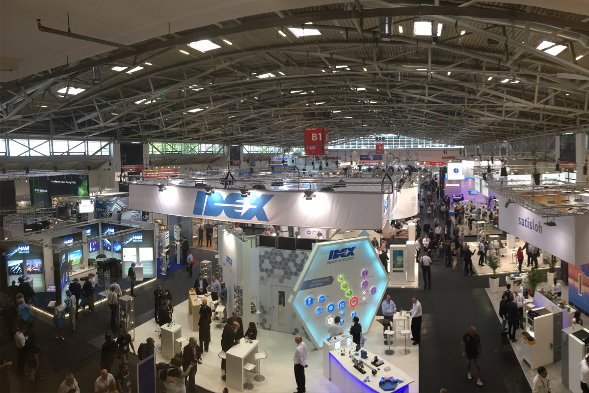 The large exhibition halls offered endless opportunities to learn about the latest innovations from leading suppliers. Image courtesy of SPIE.
