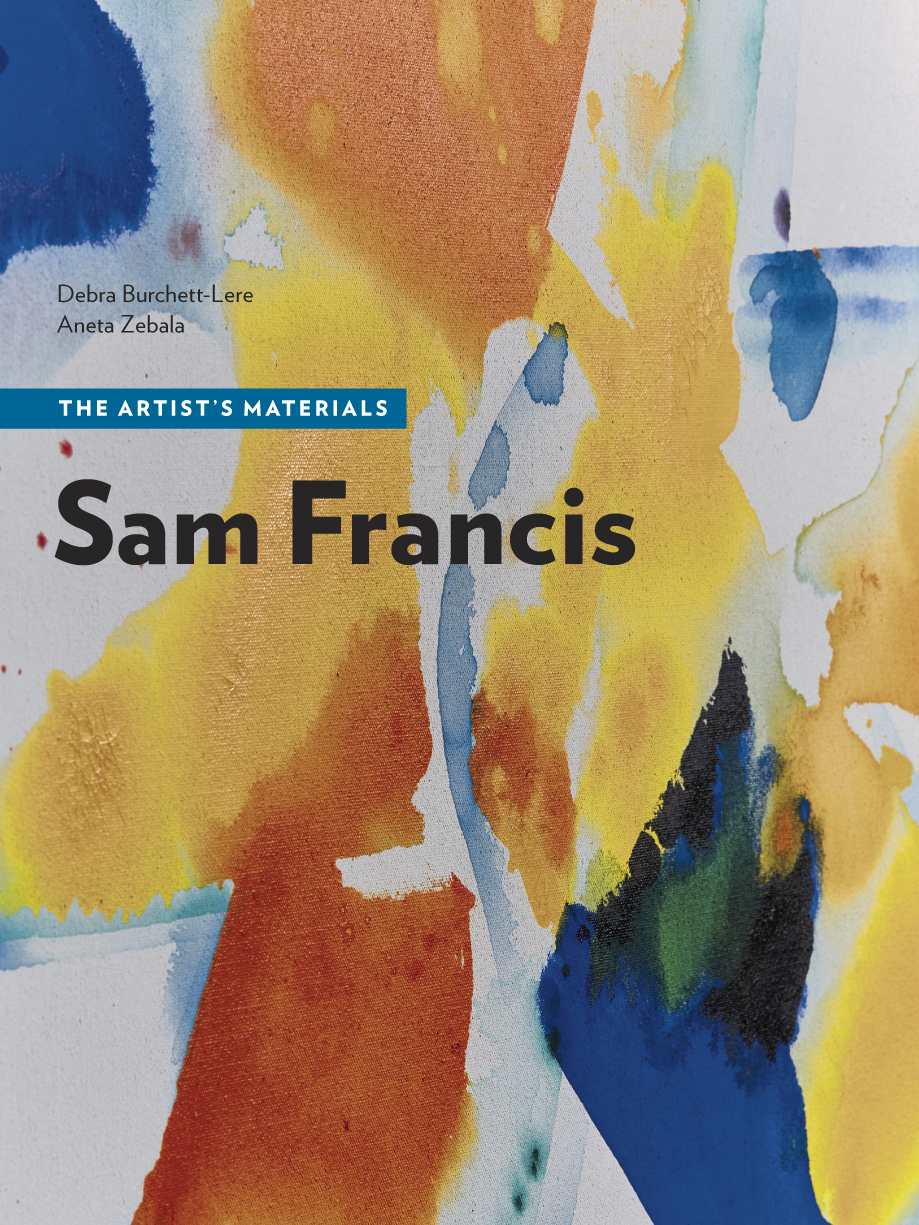 Book cover of Sam Francis: The Artist's Materials. Image courtesy of The Getty Conservation Institute