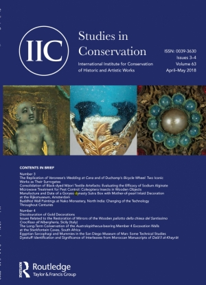 Studies in Conservation front cover
