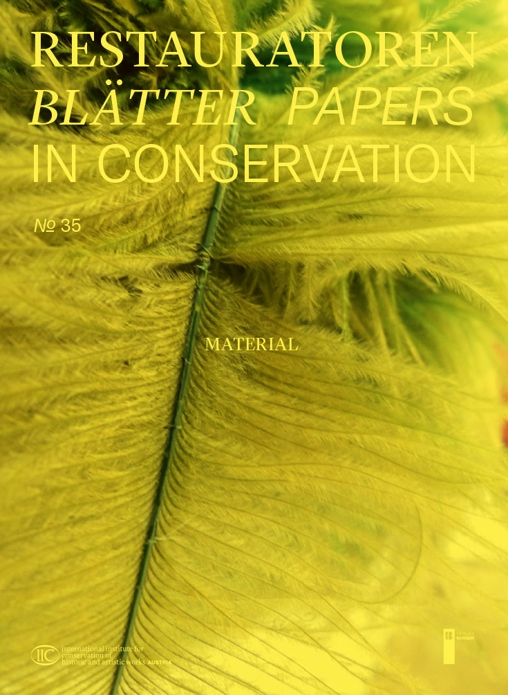 Restauratorenblätter - Papers in Conservation, book cover. Image courtesy of  IIC Austria