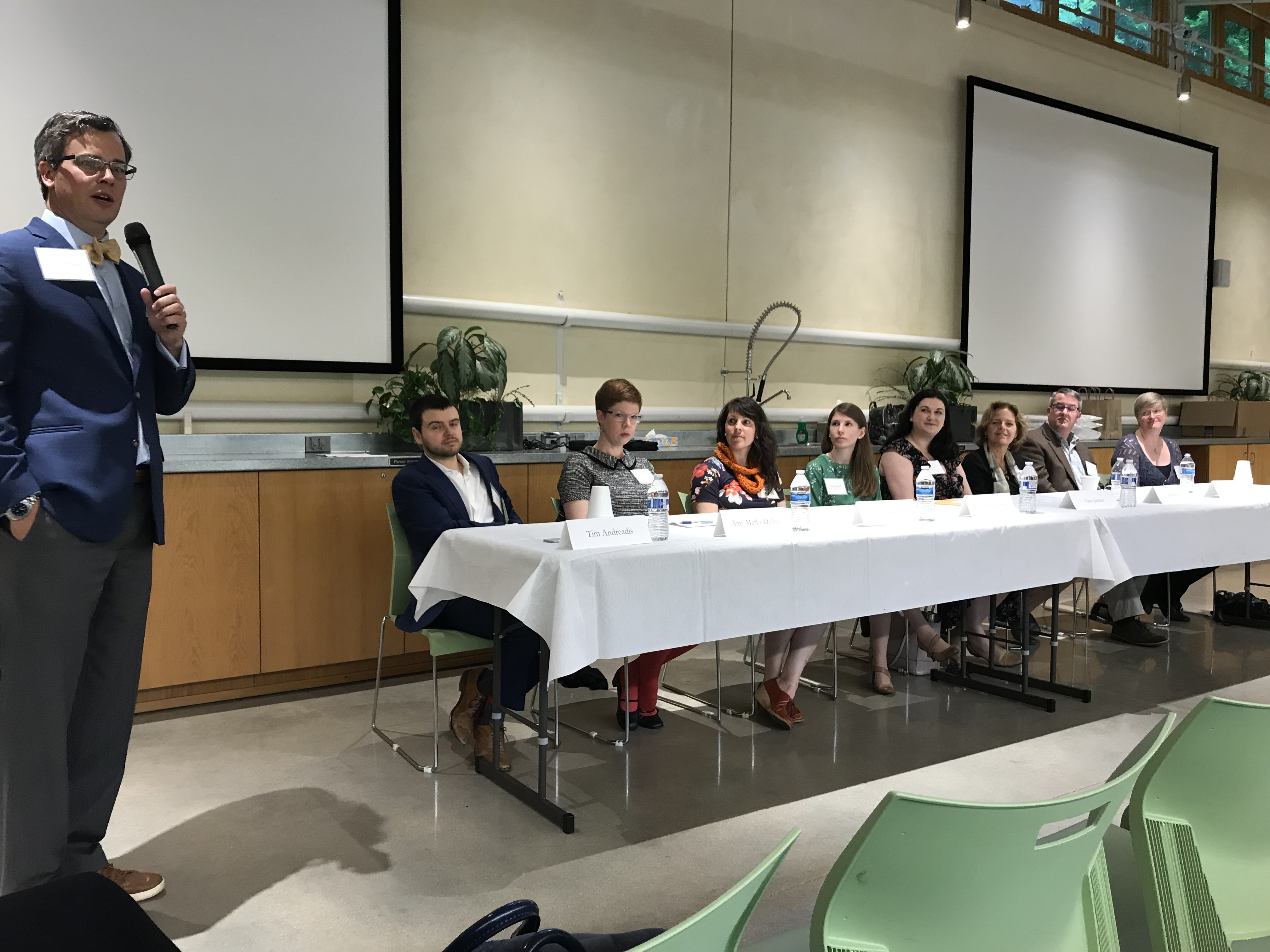 Panelists at the Society of Winterthur Fellows event (Delaware, USA) on Friday, 10 May 2019. Photo courtesy of Joyce Hill Stoner
