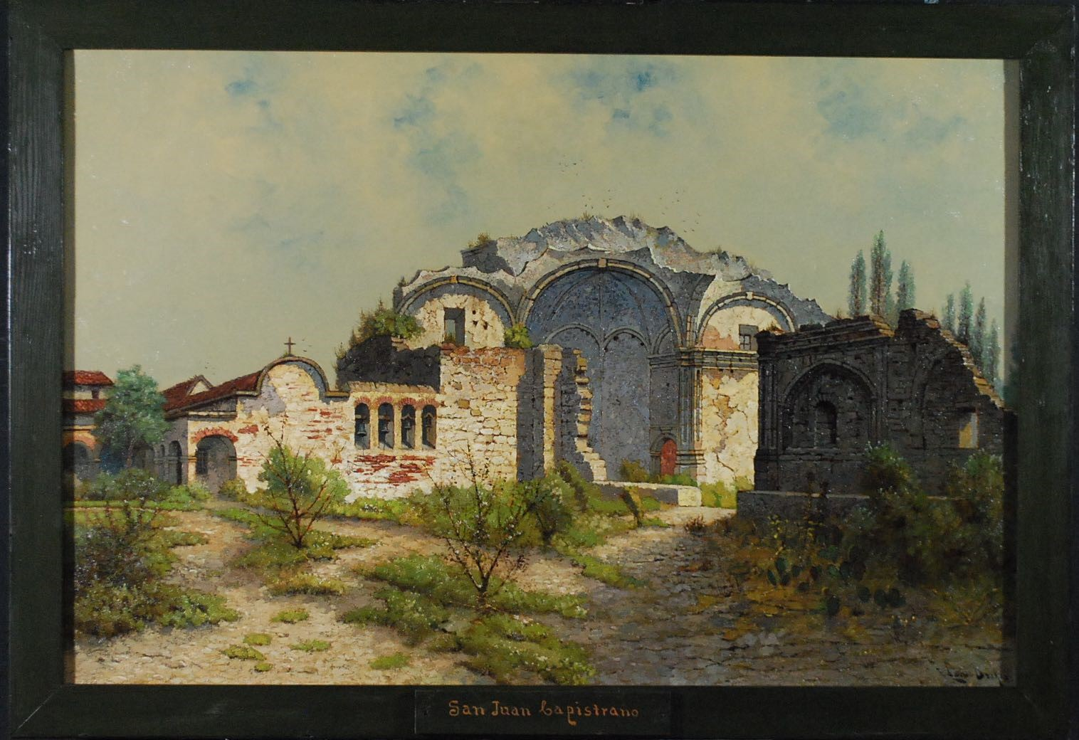 One of the paintings by Edwin Deakin. © Santa Barbara Mission Archives Library. Photos by Fine Art Conservation Laboratories