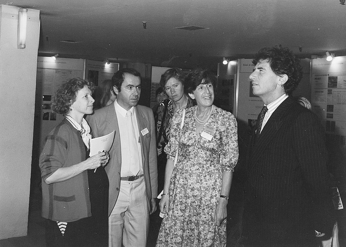 Xe IIC international conference in Paris. With Jack Lang, Ministry of Culture (1981- 1993). From left to right: unidentified person, Marcel Stefanaggi, Sfiics general secretary; Catherine de Maupeou, Director of the LRMH; Françoise Flieder, Chair of the SFIIC; Jack Lang, Ministry of Culture. © D. Bouchardon / LRMH