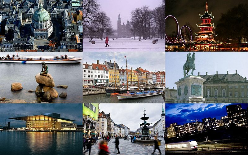 Collage - Copenhagen © Wikimedia Commons