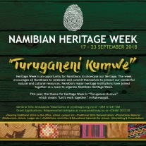 Promotional poster for Namibian Heritage Week. Image courtesy of the Museums Association of Namibia (MAN).
