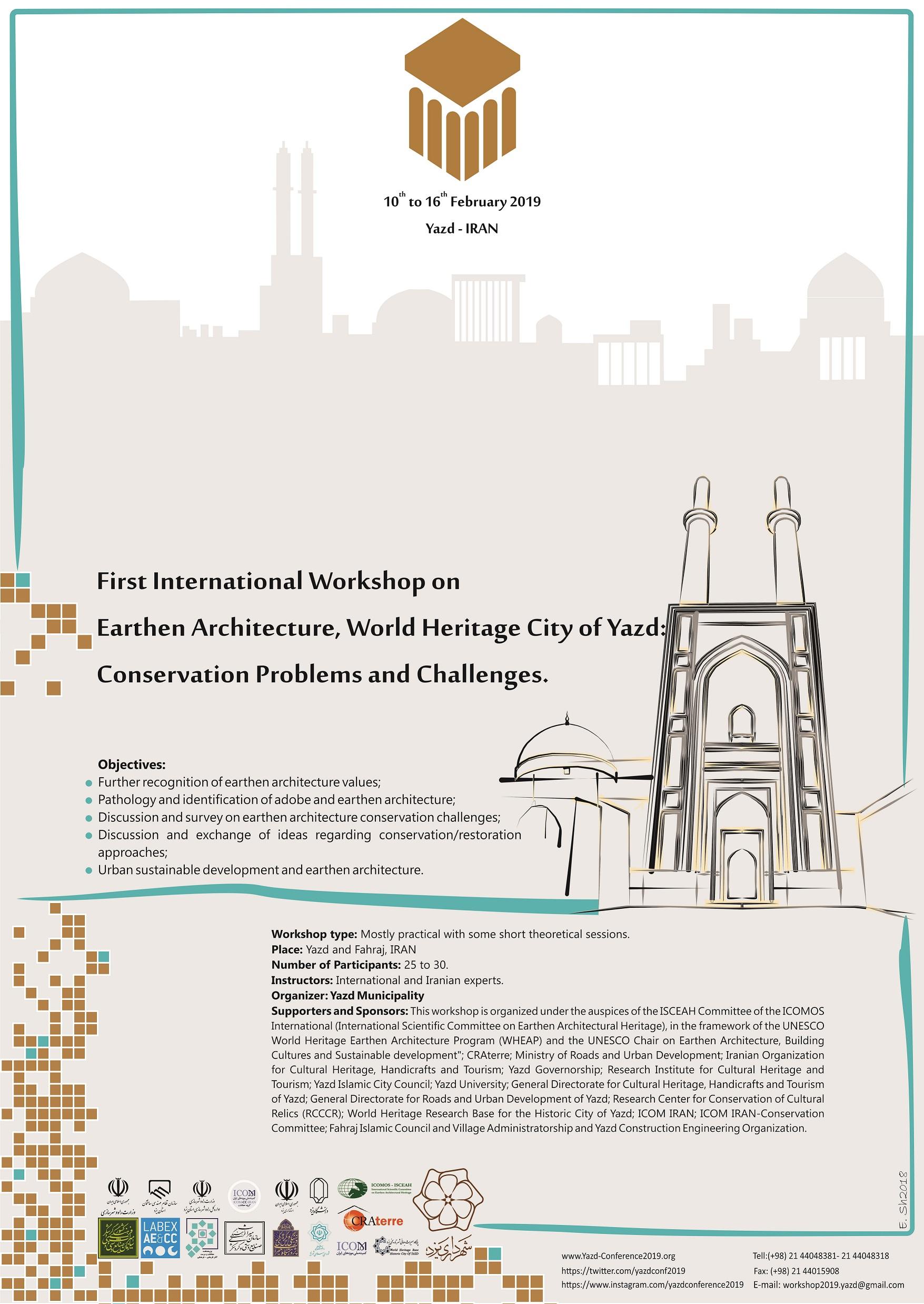 2019 Yazd Workshop Poster
