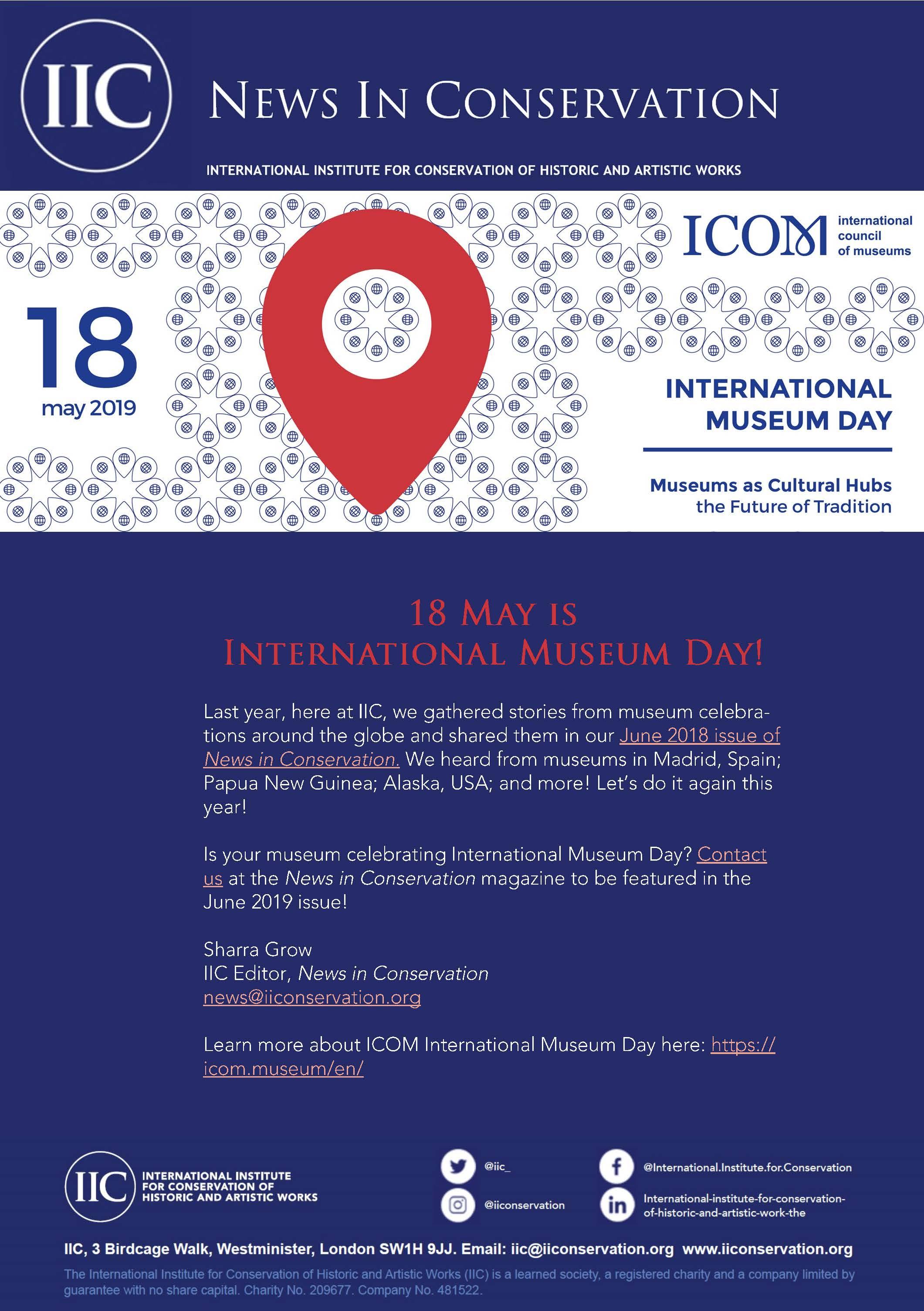International Museum Day 2019 Poster