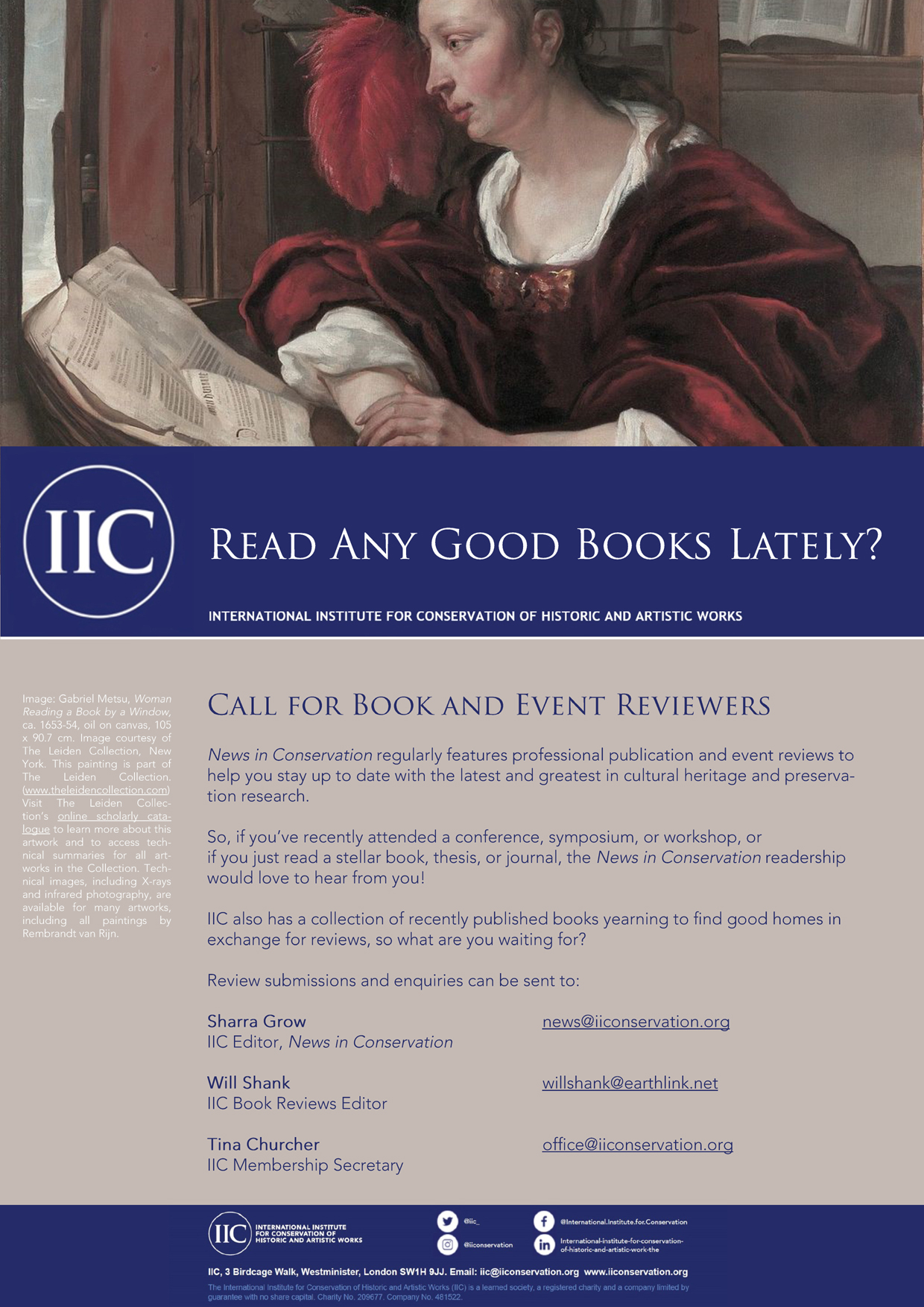 Call for Book and Event Reviews (NiC)