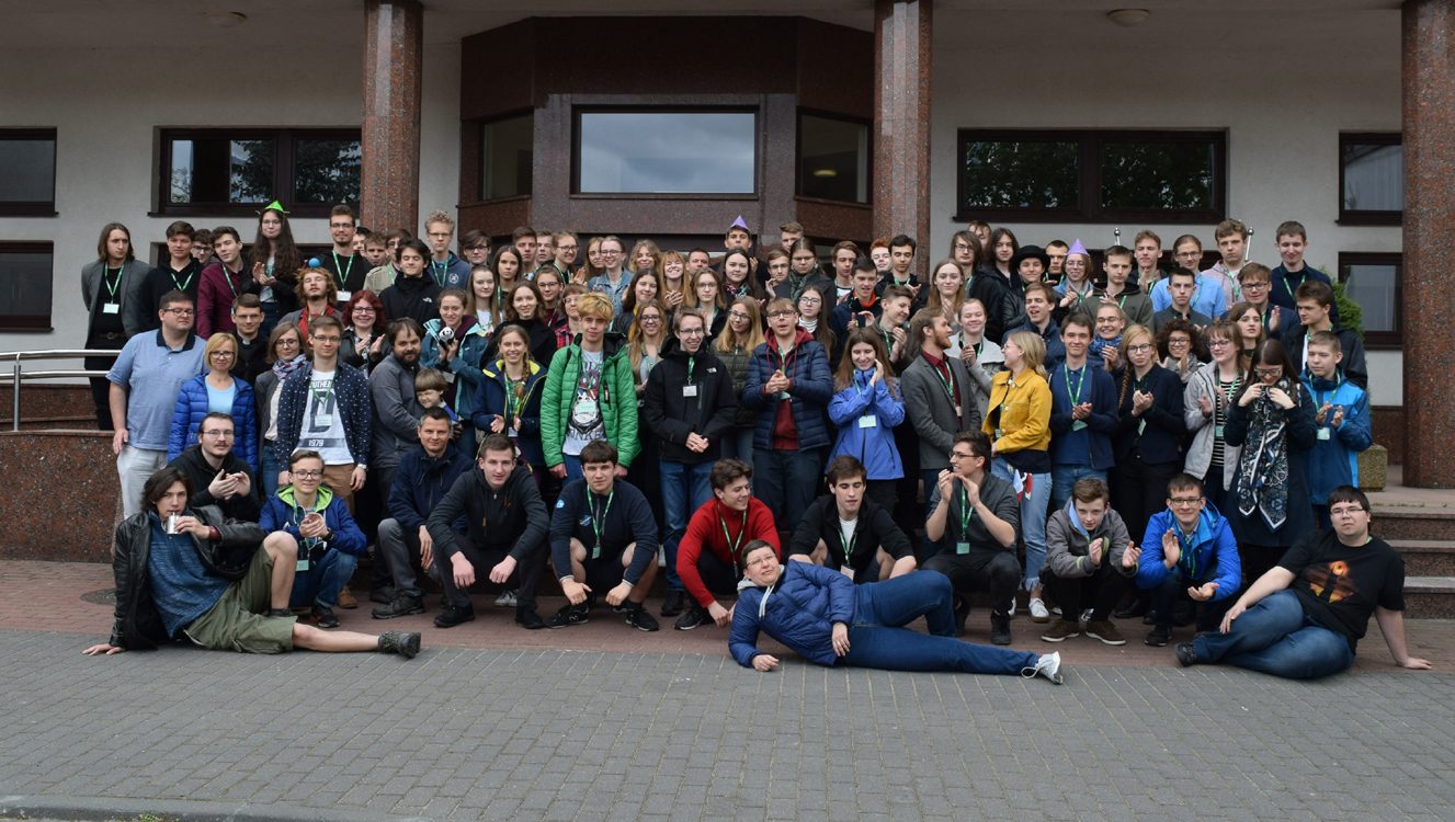 Participants of the educational camp in Serock, Poland, organised by The Polish Children's Fund, 25 April-4 May 2019. Image courtesy of the Polish Children's Fund.