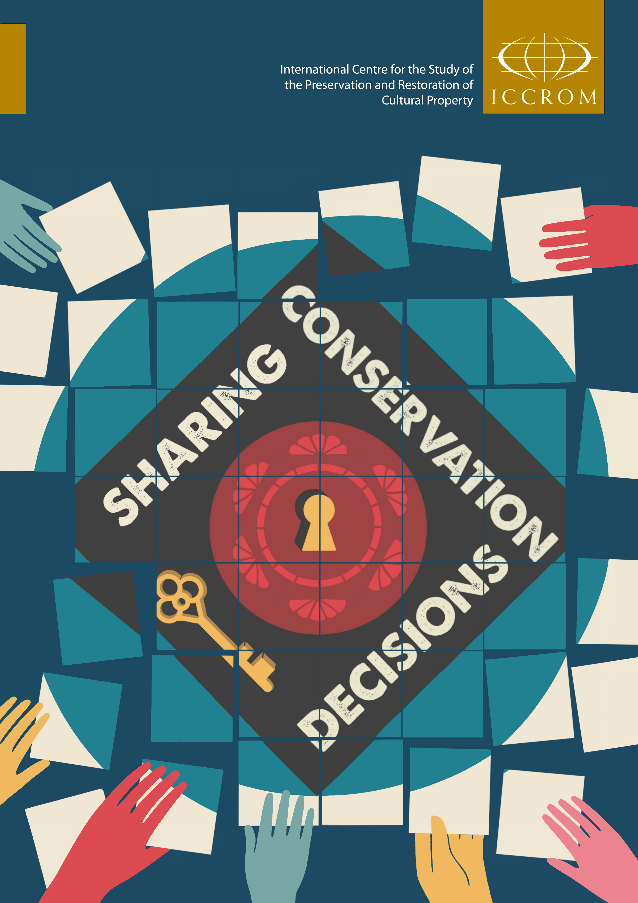 "Book Cover ""Sharing Conservation Decisions: Current Issues and Future Strategies"" (image courtesy of  ICCROM)"