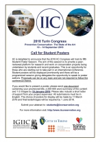 IIC 2018 Call for Student Posters