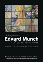 Book cover for Public Paintings by Edvard Munch and his Contemporaries: Change and Conservation Challenges, edited by Tine  Frøysaker, Noëlle L.W. Streeton, Harmut Kutzke, Françoise Hanssen-Bauer, Biljana Topalova-Casadiego. Image courtesy of Archetype Publications Ltd.