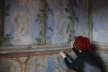 """Conservation and restauration work on wall paintings by Vlaho Bukovac, """"blue room"""", retouch, Vlaho Bukovac House Museum, Cavtat. © Ana Požar Piplica"""