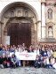 Group photo of conference participants at the APOYOnline 2018 Conference in Antigua, Guatemala. Image courtesy of APOYOnline