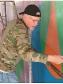 Scott Haskins applying the final varnish anti-graffiti protection layer.  © FineArtConservationLab.com