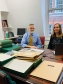 Graham Voce and Ellie Pridgeon surveying records in the IIC Office, London. Image by Tina Churcher, courtesy of the International Institute for Conservation of Historic and Artistic Works.