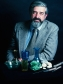Bob Brill featured with Herat (Afghanistan) glass (1979). Image courtesy of The Corning Museum of Glass, Corning, NY.