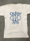 T-shirt from the 1978 IIC Congress at Oxford. T-shirt and image owned by Jean Portell.